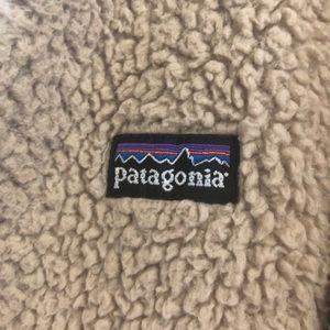 Patagonia beige fuzzy jacket